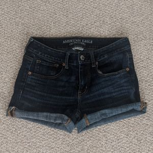 American Eagle Dark Blue Jean Shorts